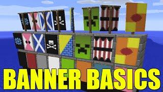 Minecraft Banner Basics - Skull & Crossbones, Creeper Face & More! (How To)