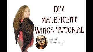 DIY Child Size Maleficent Wings Tutorial - Stop The Pin-Sanity