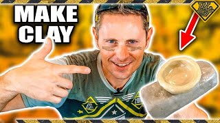 How To Make CLAY from DIRT? Making Clay Is Easy & TKOR Shows You The Easiest DIY Clay In The World
