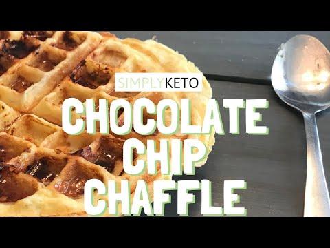 CHOCOLATE CHIP CHAFFLE – Keto Breakfast Ideas Dessert Recipes for Beginners – 5 Min Recipe
