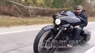 F Bomb Baggers Harley Big Wheel Custom Baggers Out Cruising