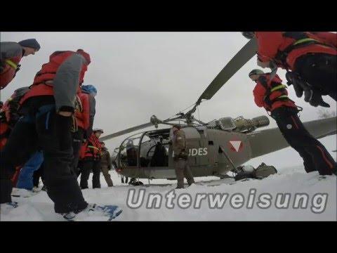 Bergrettung Steiermark Lawinen- und Suchhundestaffel Flugschulung ÖBH