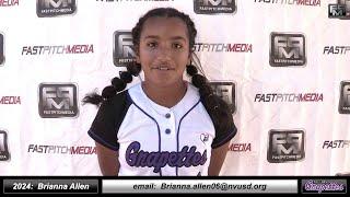 2024 Brianna Allen 3.71 GPA Athletic Middle Infielder Softball Skills Video - Ca Grapettes McNair