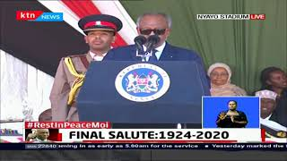 President of Djibouti Ismail Omar Guelleh pays tribute to Former President Moi