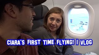 Ciara's First Time Flying! | Vlog