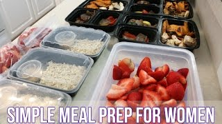 Simple Meal Prep For Women
