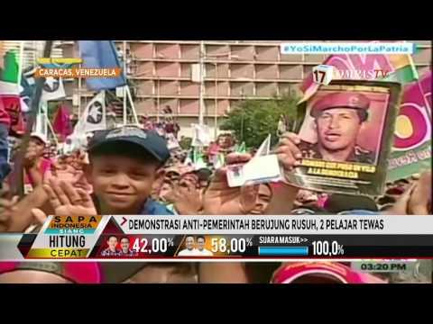 Demo Besar Anti-Presiden Maduro Pecah, 2 Orang Ditembak Mati
