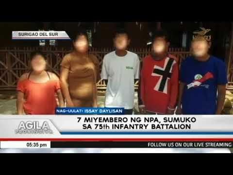 [EagleNewsPH]  7 miyembro ng NPA, sumuko sa 75th Infantry Battalion