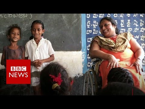 How a polio survivor is educating India's rural children – BBC News