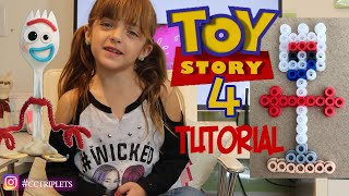 How To Make Forky Tutorial | Toy Story 4 | Melted Beads Art