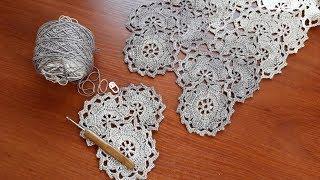 Платье (сарафан) крючком. Ленточное кружево. Часть 2. Полуцветок.