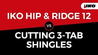 IKO Hip & Ridge 12 vs. Cutting 3 Tab Shingles - Time Savings Demonstration