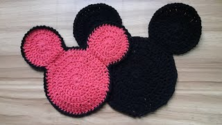 How To Crochet Mickey Mouse Coaster | Happy New Year Special