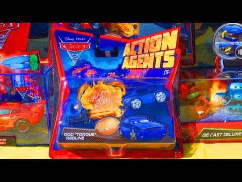 Secret Agents Launcher Rod Torque Redline Disney Pixar Cars 2 Action Agents Launchers By Mattel Toys