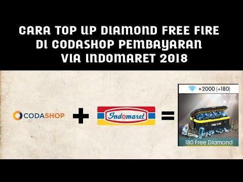 CARA TOP UP DIAMOND FREE FIRE DI CODASHOP PEMBAYARAN VIA INDOMARET 2018