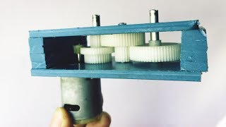 How To Make a Powerful Gearbox | DC Gear Motor Generator