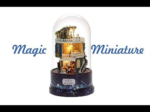 DIY Miniature Dollhouse Kit Music Box Rotating and Music World Banggood
