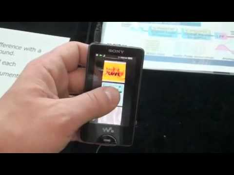 Video of Sony's NWZ-X1000 OLED Walkman In Action