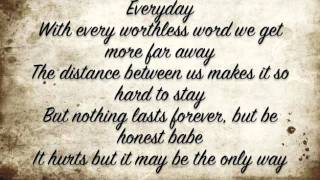Nothing lasts forever Maroon 5 Lyrics