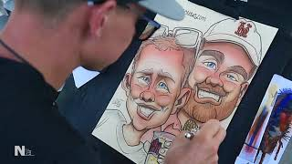 Watch NYS Fair Artist Draw Wacky Caricature From Start To Finish