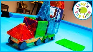 MAGNA TILES! Learning and Playing with Toy Cars  and LEGO!