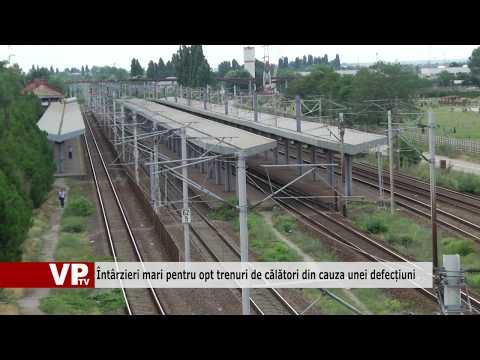 Întârzieri mari pentru opt trenuri de călători din cauza unei defecțiuni