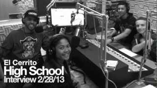 Radio interview at El Cerrito High School