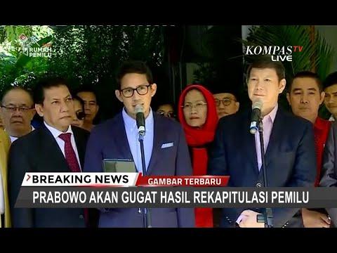 [Terbaru] Resmi! Prabowo-Sandi Gugat Hasil Pilpres di Mahkamah Konstitusi