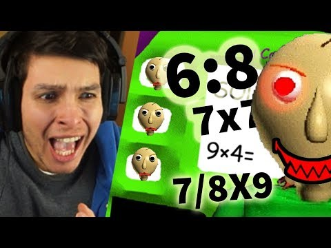 LA SECUNDARIA EN BALDI !! MULTIPLICACIÓNES Y DIVISIONES 😱 - Baldi's Basic In Education