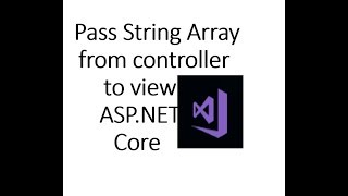 How to pass string array from controller to View in ASP.NET Core