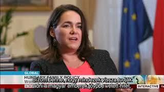 Novák Katalin a BBC-nek: A gyermekvállalás egy életre szóló döntés (+ két videó)