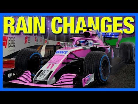 F1 2018 Career Mode : RAIN CHANGES EVERYTHING! (Part 24)