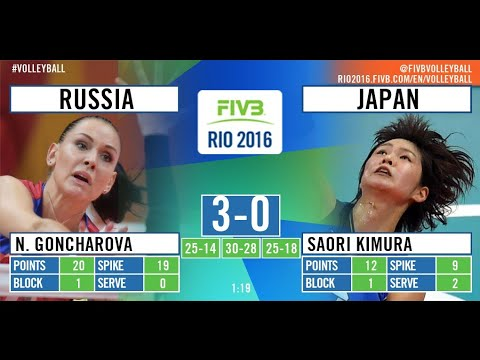Russia VS Japan Olympics 2016 Rio Volleyball