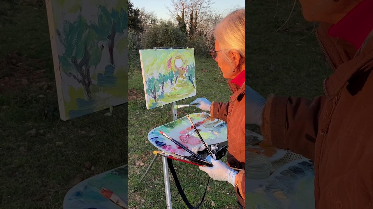 Evening Plein-Air Painting at l'Abeille