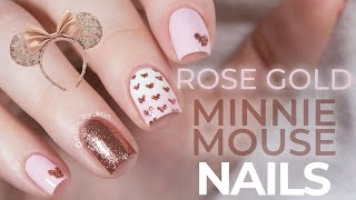 Rose Gold Minnie Mouse Nails | Disney Nails | NailsByErin