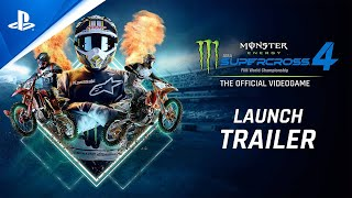 PlayStation Monster Energy Supercross 4 - Launch Trailer | PS5, PS4 anuncio