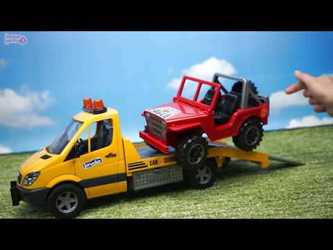 BRUDER Эвакуатор с джипом Wrecker Mercedes-Benz Игрушечные машинки Обзор игрушек. Bruder Toys. 2535 видео