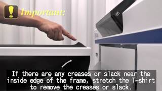Loading a T-shirt onto the Epson F2000 Direct to Garment Printer