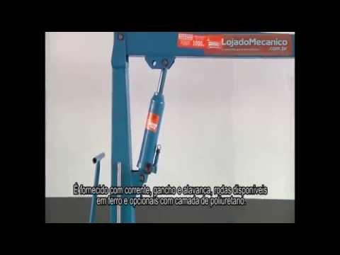 Guincho Hidráulico com Prolongador e Capacidade para 1 Tonelada - Video