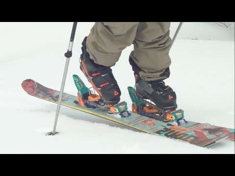 Easiest Backcountry Skiing Entry// Using Daymakers Alpine Touring Adapters