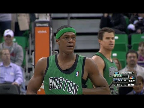 2014.02.24 – Rajon Rondo Full Highlights at Jazz – 18 Pts 10 Assists