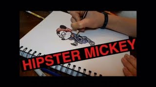 DRAWING HIPSTER MICKEY!!