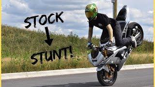 STOCK to STUNT! How to Build FULL Kawasaki 636 Stunt Bike!