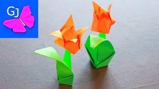 Оригами тюльпан.