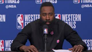 James Harden & Chris Paul Postgame Interview   Warriors vs Rockets Game 1 - Video Youtube