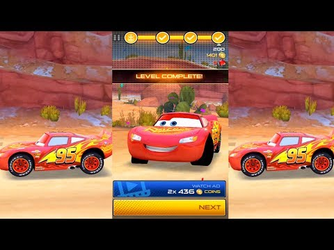 LIGHTNING MCQUEEN IN LIGHTNING LEAGUE DISNEY CARS 3 VIDEO GAME - RACING THROUGH ICONIC DESERT