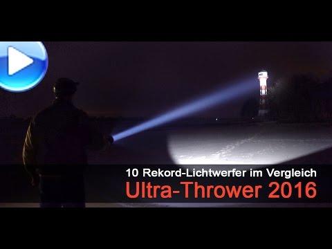 10 Ultra-Thrower Taschenlampen im Vergleich (2016)