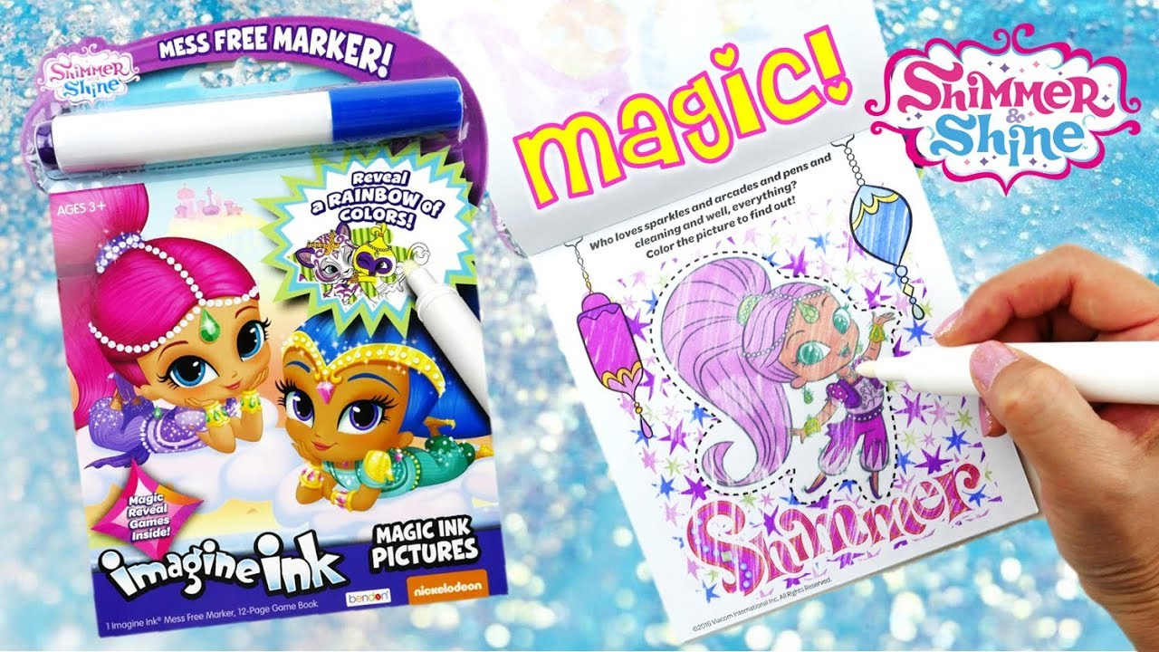Shimmer and Shine Imagine Ink Magic Marker Coloring Book with Activity