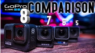 GoPro Comparison Hero 8 vs 5,6, and 7 - Should You Upgrade? The Things Nobody is Talking About!!