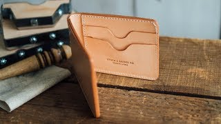 Making A Leather Billfold Wallet